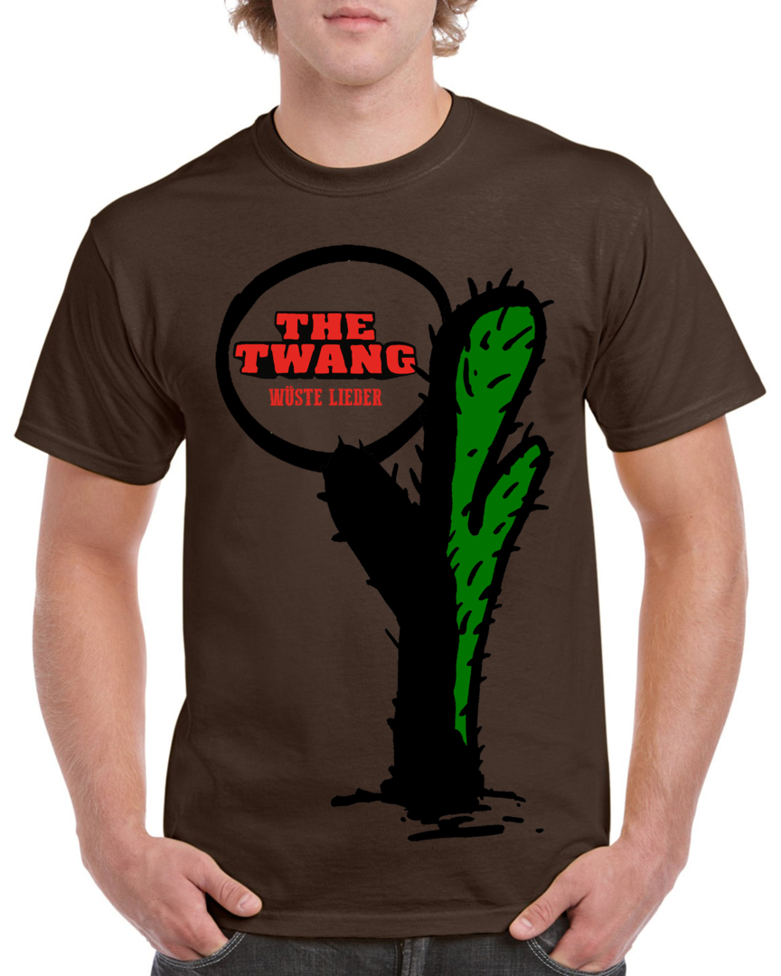 The Twang - Kaktus-Shirt - Wüste Lieder - Farbe: Dark Chocolate